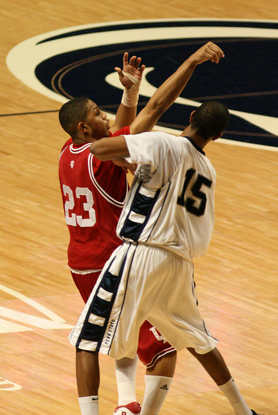 March 9, 2008  Penn St vs. Indiana NCAA Men's basketball<br /> Eric Gordon shots a three pointer