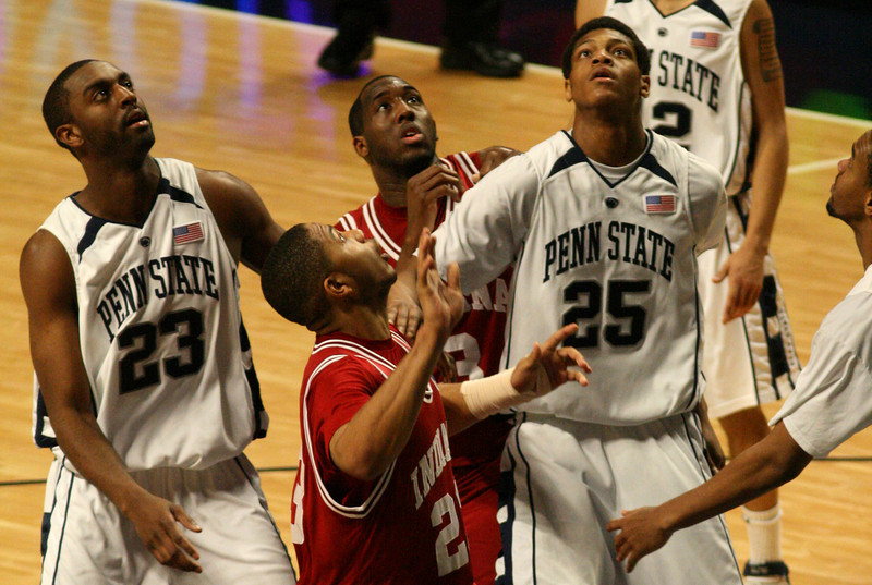 March 9, 2008  Penn St vs. Indiana NCAA Men's basketball<br /> DJ White and Eric Gordon
