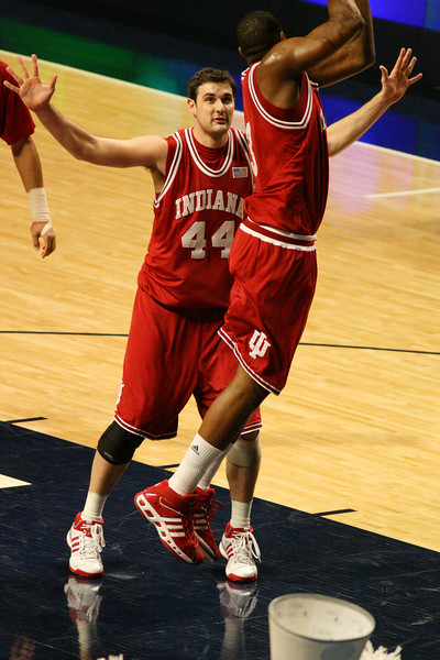March 9, 2008  Penn St vs. Indiana NCAA Men's basketball<br /> DJ White grabs the rebound
