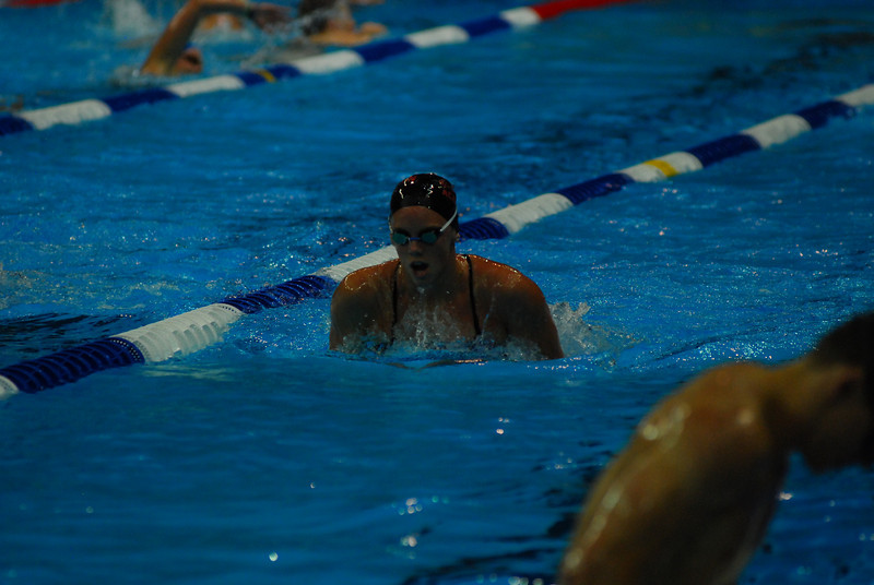 Alicia's breaststroke looks good