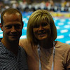 Kevin Berkoff '88 and Polly Winde Surhoff '82 (wife of Former Major League Baseball player BJ Surhoff) enjoy the trials. Polly won the silver medal at the 1983 Pan-Am Games.