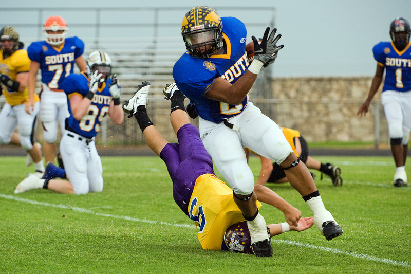 Tevin Mitchell, Quanah, South running back was the game's MVP.