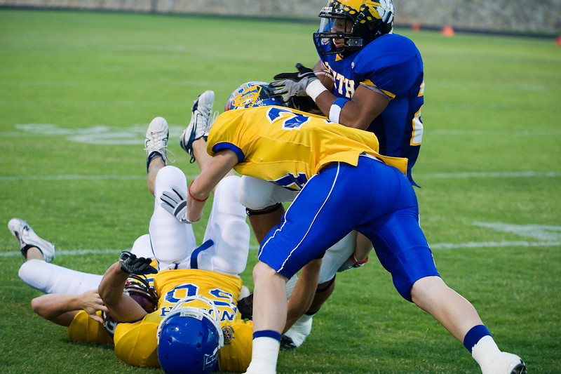 Creede Breeding, Childress, tackles Tevin Mitchell, Quanah.