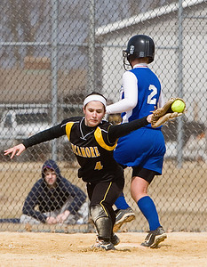 Sycamore:  4 Kelsey Carnahan, runner safe at first