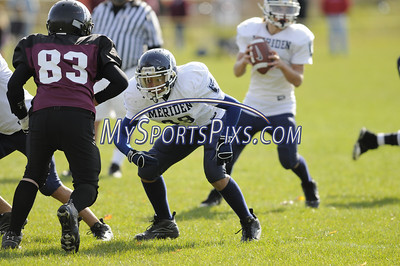 10/19/2008 Jr. Midget Meriden Raiders vs Torrington Warriors at the Torrington Middle School.  Photos by Mike Orazzi