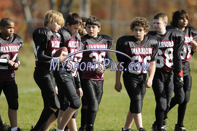 10/19/2008 Pee Wee  Meriden Raiders vs Torrington Warriors at the Torrington Middle School.  Photos by Mike Orazzi