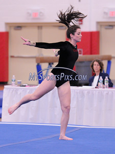 Conard's Eleanor Schwab competes in the Floor Exercise during the State Girls Gymnastics Open at Pomperaug High School on Saturday, March, 1, 2008.