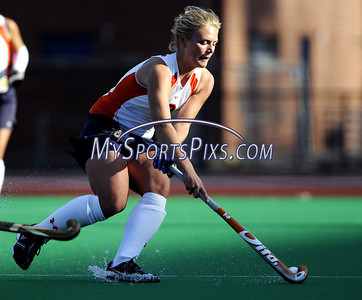 Syracuse University's Anne-Sophie Van der Post (9) during the Big East Field Hockey Championship on Sunday, November 9, 2008 in Storrs, Conn. Syracuse won 1-0 scoring as time expired to claim the Big East title advancing to the NCAA's. Photo by Mike Orazzi   http://www.mikeorazziphotography.com/