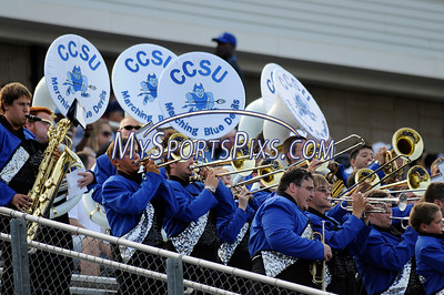 The Central Connecticut State University Band during Saturday's game with Bryant College.