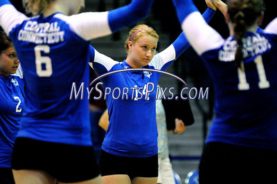 Central Connecticut State University Volleyball player Megan Shanahan after CCSU's 3-2 win over Iona College on Saturday.