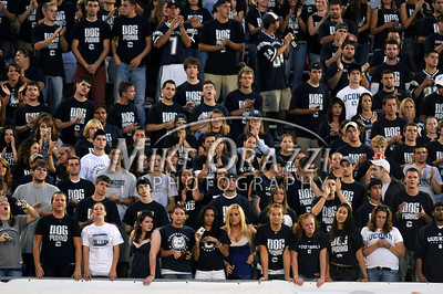 "8/28/2008 Mike Orazzi | The Bristol Press Uconn fans in the ""Dog Pound"" during a 35-3 win over Hofstra at Rentschler Field on Thursday, August 28, 2008."