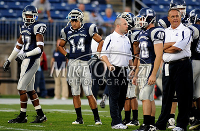 8/28/2008 Mike Orazzi | The Bristol Press Uconn's D.J. Hernandez (14) during a 35-3 win over Hofstra at Rentschler Field on Thursday, August 28, 2008.