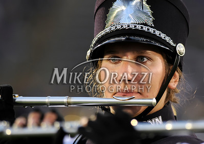 8/28/2008 Mike Orazzi | The Bristol Press A member of the Uconn marching band during a 35-3 win over Hofstra at Rentschler Field on Thursday, August 28, 2008.