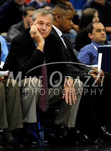 Uconn's Jim Calhoun while notching his 780th career win during a 88-58 win over Bryant at the XL  Center in Hartford on Saturday, November 29. 2008.