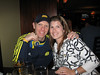 Me and Meg at Jury's in Boston for some post-race celebrating with Brad and Patti. I'm showing off my finisher medal.