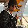 Contest organizer Jesse Warren on the microphone.