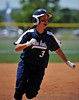 #3 Vanessa Adame rounds 3rd base on Jody Lantz's home run.