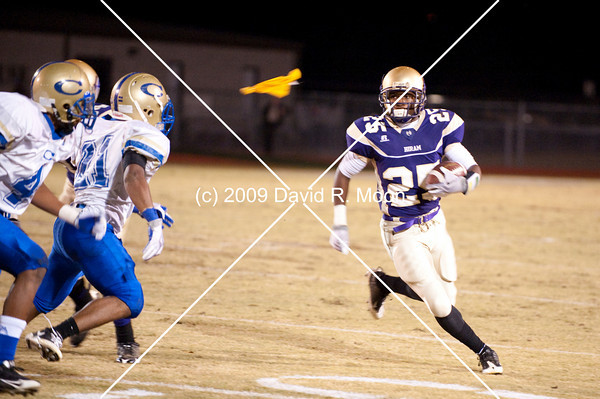 Hiram, after going undefeated in regular season, wins the first playoff round in AAAA. Final score 28-20.