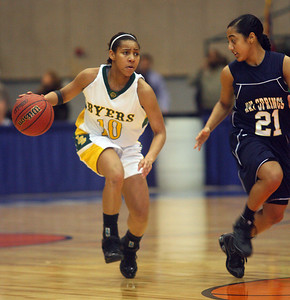 Rachel Jones dribbles past a Bay Springs defender. (Charles A. Smith/Special to the Daily Journal)
