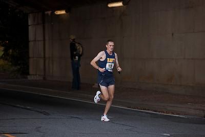 winner JOHN MENTZER of Kittery ME shown here leading at mile 10
