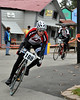 "Sam Anderson of Kearsarge, NH, is followed by Brian McCall of Gilford, during the Story Land Criterium, which was Stage 2 of the 3 stage ""Porky Gulch Classic"" bicycle race, put on by Great Glen Trails in Gorham, NH, on Saturday, Nov. 7th.<br />  The 2 day event concludes on Sunday, November 8th, with stage 3 ""Rockpile Rampage"" classic cyclecross race, at the Great Glen Trails Outdoor Center, across from the Mt. Washington Auto Road."