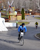 Tamela Lynch, of Littleton NH, races through the rides and attractions of Story Land in Glen, during The Porky Gulch Classic bicycle race, which was organized by Great Glen Trails and ran on Nov. 7th & 8th, 2009.