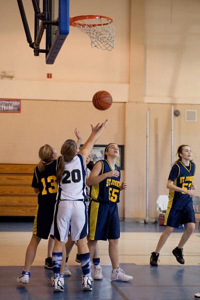 St Joseph 8th Grade Basketball Team, Janaury 2009 (44 of 74)