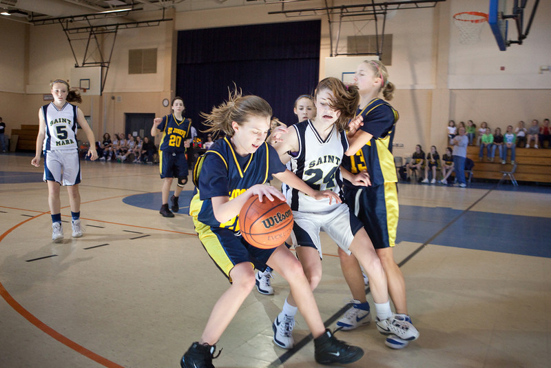 St Joseph 8th Grade Basketball Team, Janaury 2009 (66 of 74)