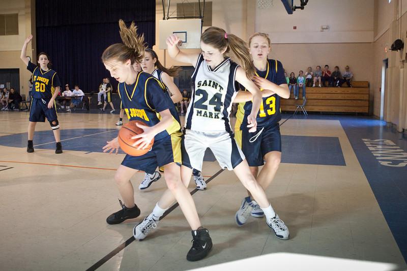 St Joseph 8th Grade Basketball Team, Janaury 2009 (67 of 74)