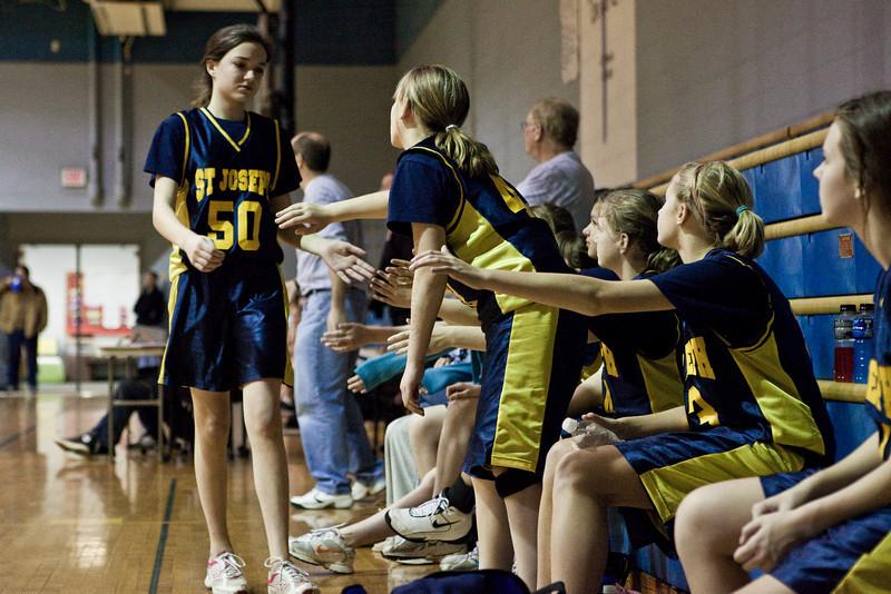 St Joseph 8th Grade Basketball Team, Janaury 2009 (20 of 74)