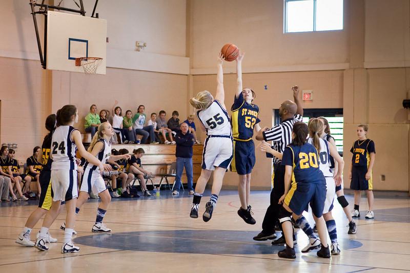 St Joseph 8th Grade Basketball Team, Janaury 2009 (32 of 74)