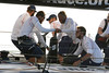 Members of the Ericsson 3 boat prepare to jib upon entry into the Guanabara bay , during their first place arrival of leg 5 of the Volvo Ocean Race in Rio de Janeiro, March 26, 2009.(Australfoto/Douglas Engle)