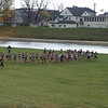 View of course start on flood plain (Div. I girls)
