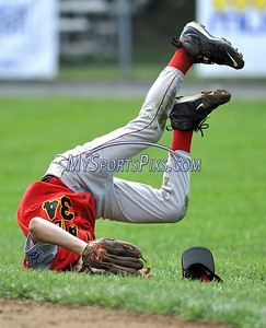 8/10/2009 MIke Orazzi | Staff Maryland's Jordan Buchanan (34) after diving for a ground ball during a win over the District of Columbia in the 2009 Eastern Regional Little League Tournament in Bristol, Conn., on Monday, August 10, 2009.