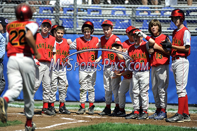 8/7/2009 Mike Orazzi | The Staff Maryland's Jordan Stonebreaker (22) after his home run during an 8-5 loss to Delaware in the first game of the 2009 Eastern Regional Little League Tournament in Bristol, Conn., on Friday, August 7, 2009.