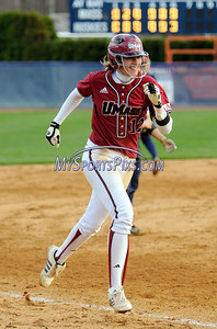 4/23/2009 Mike Orazzi | Staff UMass' Carly Normandin (12) afer her grand slam during a 6-4 win over UConn in Storrs on Thursday.