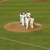 Twins players deciding what to do after Gardy - the manager - was ejected