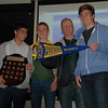 Brett Borland, Charlie Haley, Peter Damyon & Dave Dickie medal winner Lachlan Holmes <br /> Under 16A Shield and Flag<br /> 4th May 2011