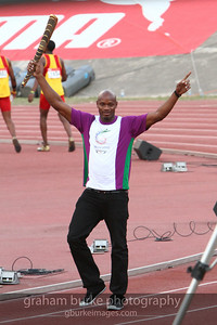 Asafa Powell, one of the three fastest men alive.
