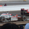 Dario Franchitti leads Dan Wheldon to the checkered flag.