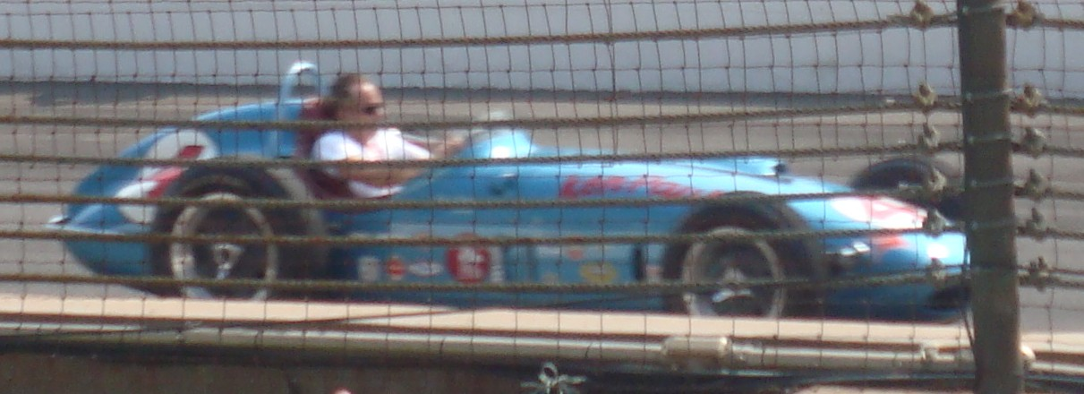 Historical cars on the track prior to the 2010 Indianapolis 500.
