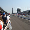 Looking up the main straightaway at the Indianapolis Motor Speedway