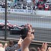 Hélio Castroneves leading a pace lap