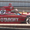 Juan Montoya's winning car from 2000, on the track prior to the 2010 Indianapolis 500