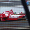 Dario Franchitti heads towards the checkered flag under the final yellow.