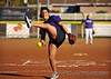 Charnel Zetsch shows-off her amazing slow-pitch abilities.