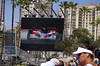 The Jumbo-Tron was invaluable for keeping track of the race