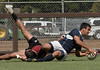 CLAREMONT VS TEMPLE : RUGBY PHOTOS BY DOBSON IMAGES