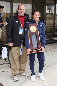 Jim Sullivan with Villanova team Trophy.  She doesn't seem too comfortable with you standing next to her Jim.