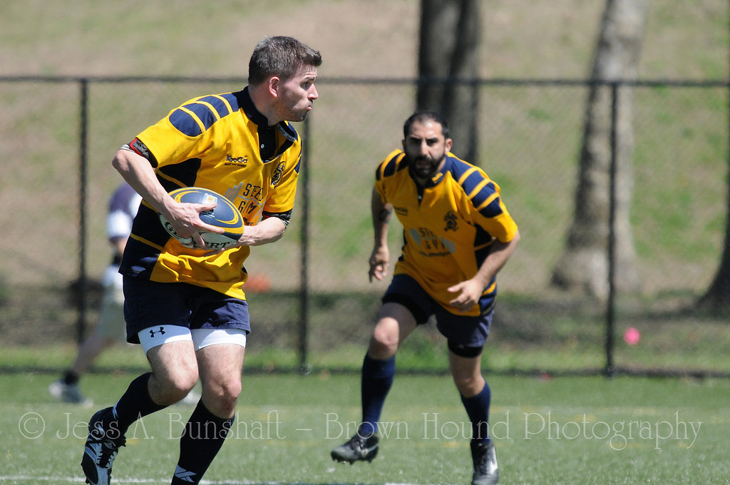 Gotham Knights Rugby Football Club, Brooklyn Rugby & Hudson Valley Rebel RFC at Randall's Island, NY, April 10, 2010